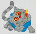 Animation Art:Production Cel, Fritz the Cat Production Cel Setup (Ralph Bakshi, 1972)....