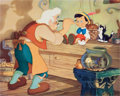 Animation Art:Poster, Pinocchio Lithograph Print Set of 4 (Walt Disney, 1940)....(Total: 6 Items)