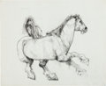 Animation Art:Concept Art, The Art of Walt Peregoy Arabian Horse Concept Art (WaltDisney, 1960s/70s)....