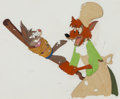 Animation Art:Production Cel, Song of the South Br'er Rabbit and Br'er Fox Production Cel(Walt Disney, 1946)....