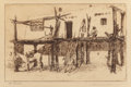 Prints, Edward Borein (American, 1873-1945). Settlements of the West (four works). Etchings and drypoints, each. 9 x 11-1/4 inch... (Total: 4 Items)