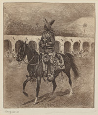Edward Borein (American, 1873-1945) Conquistadors to Charros (four works) Etchings and drypoints, ea