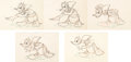 Animation Art:Production Drawing, Donald's Better Self Animation Drawing Sequence of 5 (WaltDisney, 1938).... (Total: 5 Original Art)