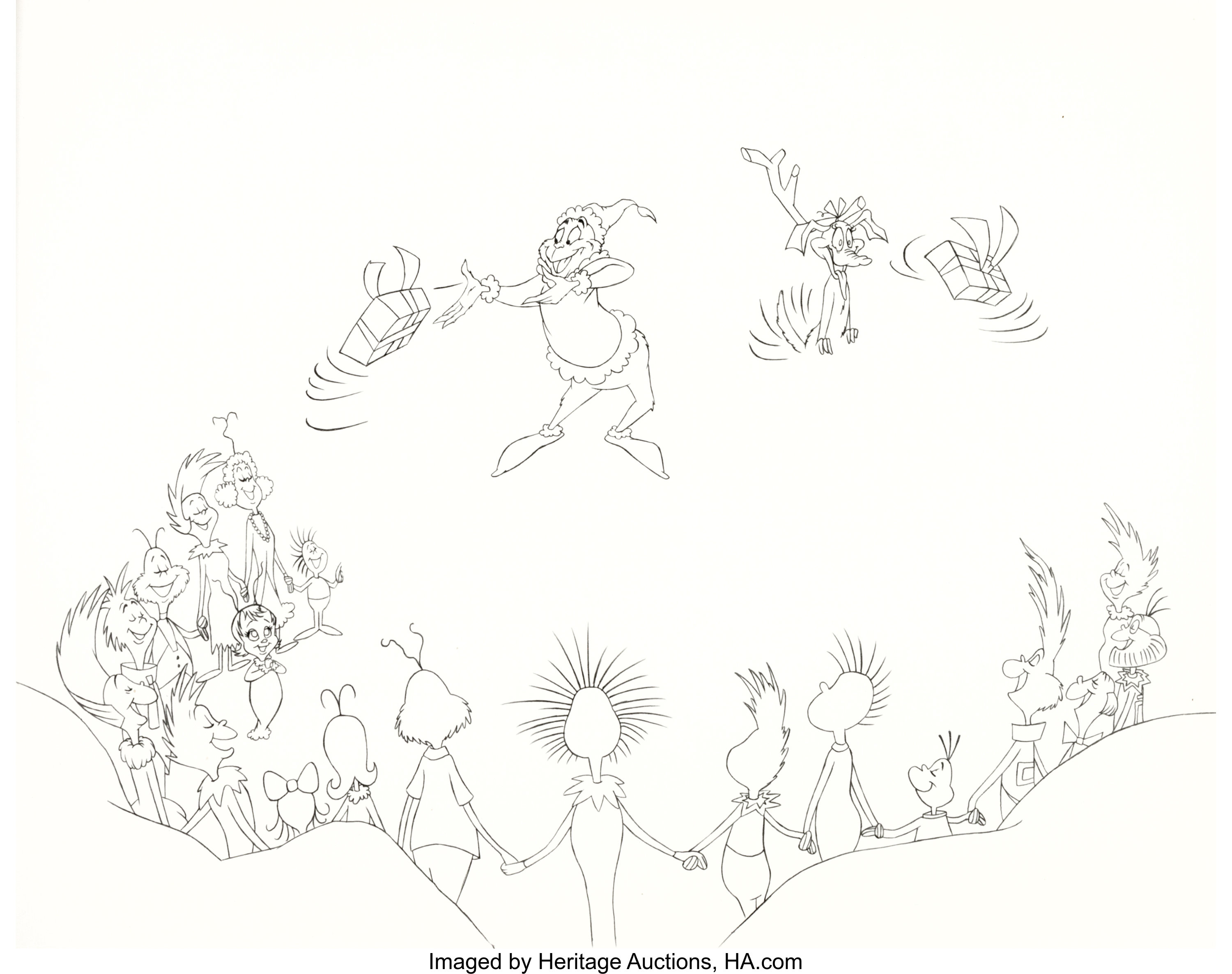 How The Grinch Stole Christmas Book Illustrations.Dr Seuss How The Grinch Stole Christmas Limited Edition