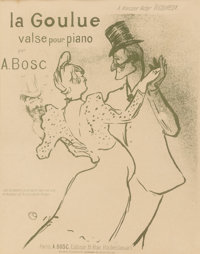 Henri de Toulouse-Lautrec (French, 1864-1901) La Goulue valse pour piano Lithograph in colors 13-