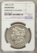 Morgan Dollars, 1885-CC $1 -- Improperly Cleaned -- NGC Details. AU. NGC Census: (5/9878). PCGS Population (4/20368). Mintage: 228,000. Num...