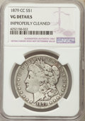 Morgan Dollars, 1879-CC $1 -- Improperly Cleaned -- NGC Details. VG. NGC Census: (99/2262). PCGS Population (145/4440). Mintage: 756,000. N...