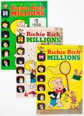 Bronze Age (1970-1979):Humor, Richie Rich Millions File Copies Box Lot (Harvey, 1968-82) Condition: Average NM-....