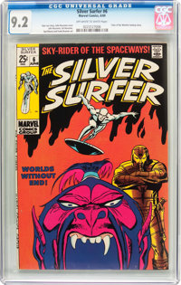 The Silver Surfer #6 (Marvel, 1969) CGC NM- 9.2 Off-white to white pages