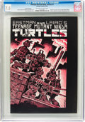 Modern Age (1980-Present):Superhero, Teenage Mutant Ninja Turtles #1 Second Printing (Mirage Studios,1984) CGC VF- 7.5 Off-white to white pages....