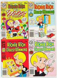 Richie Rich and Casper-Related Digests File Copies Box Lot (Harvey, 1970s-80s) Condition: Average NM-