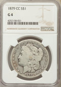 Morgan Dollars: , 1879-CC $1 Good 4 NGC. NGC Census: (66/2446). PCGS Population (52/4665). Mintage: 756,000. Numismedia Wsl. Price for proble...