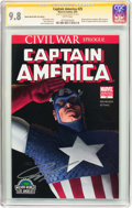 Modern Age (1980-Present):Superhero, Captain America #25 Wizard World 2007 Con Edition - SignatureSeries (Marvel, 2007) CGC NM/MT 9.8 White pages....