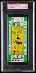 Baseball Collectibles:Tickets, 1973 World Series Game 7 Full Ticket, PSA EX 5....