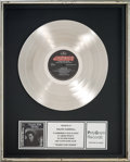 Music Memorabilia:Awards, Tears For Fears Songs from the Big Chair In-House Platinum Record Sales Award (Mercury 422-824-300-1, 1985). ...