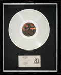 Music Memorabilia:Awards, Eagles Live In-House Platinum Record Sales Award (Asylum BB-705, 1980). ...