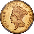 Three Dollar Gold Pieces, 1871 $3 MS63+ NGC....