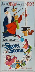 """Movie Posters:Animation, The Sword in the Stone (Buena Vista, 1963). Three Sheet (41"""" X84""""). Animation.. ..."""