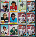 Football Cards:Lots, 1970-84 Topps Football Card Collection (36) With 5 Marino Rookies!...