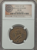 (1834) William Seward Hard Times Token, Low-15, HT-28, DeWitt CE-1834-5, R.5, VF35 NGC