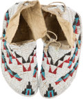 American Indian Art:Beadwork and Quillwork, Child's Beaded Hide Ceremonial Moccasins.... (Total: 2 Items)