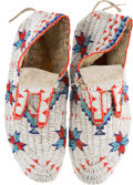 American Indian Art:Beadwork and Quillwork, Pair Beaded Hide Moccasins.... (Total: 2 Items)