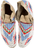 American Indian Art:Beadwork and Quillwork, Pair of Beaded Moccasins. ... (Total: 2 Items)