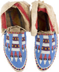 American Indian Art:Beadwork and Quillwork, Pair of Beaded Moccasins.... (Total: 2 Items)