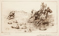 Art, Edward Borein (American, 1872-1945): Three Etchings DepictingCattle and Cowboys. ... (Total: 3 Items)