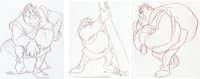 Shrek Concept Drawings Group of 3 (Dreamworks, 2001).... (Total: 3 )