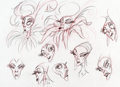animation art:Model Sheet, The Emperor's New Groove Yzma Model Sheet (Walt Disney,2000).... (Total: 2 )