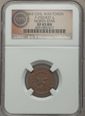 Civil War Patriotics, 1863 North Star Civil War Patriotic, Fuld 250/437a, R.5, XF45 NGC....