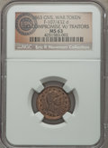 Civil War Patriotics, 1863 No Compromise Civil War Patriotic, Fuld 107/432d, R.8, MS63NGC. ...