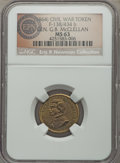 Civil War Patriotics, (1864) Gen. G.B. McClellan Civil War Patriotic, Fuld 138/434b, R.6,MS63 NGC. ...