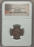 Civil War Patriotics, (1860) Stephen A. Douglas Civil War Patriotic, Fuld 154/417a, R.7,VF30 NGC. ...