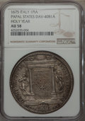 Italy, Italy: Papal States. Clement X Piastra 1675 AU58 NGC,...