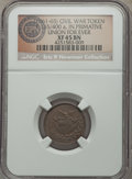 Civil War Patriotics, (1861-65) Union For Ever Civil War Patriotic, Fuld 165/400a, R.5,XF45 NGC. ...