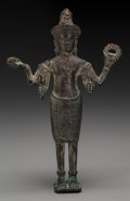 Asian:Other, A Cambodian Bronze Figure of Vishnu,. 9-1/2 inches high (24.1 cm)....