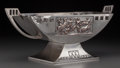 Silver Holloware, Continental:Holloware, A WMF Art Deco Silver-Plated Centerpiece, circa 1920. Marks: WMF (ostrich logotype). 7-1/4 inches high x 18 inches wide...