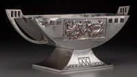 A WMF Art Deco Silver-Plated Centerpiece, circa 1920 Marks: WMF (ostrich logotype) 7-1/4 inches high