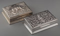 Silver Holloware, Continental:Holloware, A Pair of Thai Table Boxes, 20th century. Marks: STERLING, SIAM;MADE IN THAILAND. 1-5/8 h x 5-3/8 w x 4-1/4 inches deep...(Total: 2 Items)