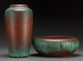 Ceramics & Porcelain, A Charles Walter Clewell Copper Dipped Pottery Vase and Bowl, Canton, Ohio, circa 1925. Marks: Clewell, 296-215. 9-7/8 i... (Total: 2 Items)
