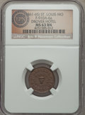 Civil War Merchants, (1861-65) Drovers Hotel, St. Louis, MO, Fuld 910A-6a, R.8, MS63Brown NGC. ...