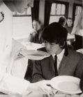 "Music Memorabilia:Photos, Beatles - Astrid Kirchherr Signed Large Format Photograph of GeorgeHarrison, ""Soup"" (London, 1964)...."