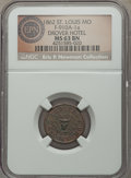 Civil War Merchants, 1862 Drovers Hotel, St. Louis, MO, Fuld 910A-1a, R.6, MS63 BrownNGC....