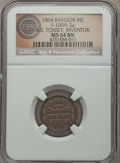 Civil War Merchants, 1864 R.S. Torrey, Bangor, ME, Fuld 100A-2a, R.3, MS64 Brown NGC....