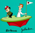 Animation Art:Production Cel, The Jetsons George Jetson and Mr. Spacely Bumper Cel(Hanna-Barbera, 1985)....