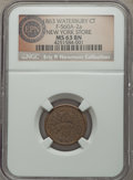 Civil War Merchants, 1863 New York Store, Waterbury, CT, Fuld 560A-2a, R.4, MS63 BrownNGC. . ...