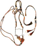 American Indian Art:Pipes, Tools, and Weapons, Horsehair Headstall and Fittings with Reins and Quirt....