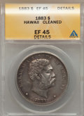 Coins of Hawaii , 1883 $1 Hawaii Dollar -- Cleaned -- ANACS. EF45 Details. NGCCensus: (74/219). PCGS Population (187/279). Mintage: 46,348....